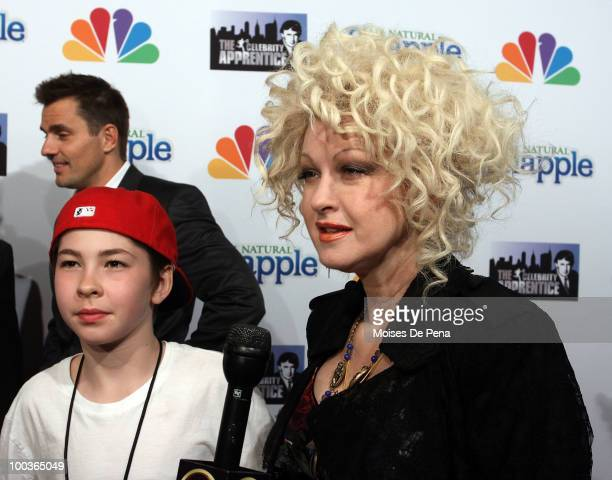 Cyndi Lauper son Declyn Wallace Thompson Lauper attend The Celebrity Apprentice Season 3 finale after party at the Trump SoHo on May 23 2010 in New...