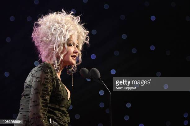 Cyndi Lauper speaks onstage at Billboard Women In Music 2018 on December 6 2018 in New York City