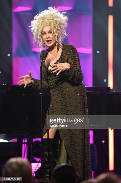 Cyndi Lauper speaks onstage at Billboard Women In Music 2018 on December 6 2018 in New York City