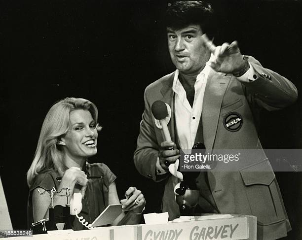 Cyndy Garvey and actor Ron Masak attend the taping of Jerry Lewis Telethon Benefit for Muscular Dystrophy on September 2 1979 in Los Angeles...