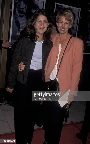 Cyndy Garvey and daughter Whitney Garvey attend the premiere of Long Kiss Goodnight on October 7 1996 at Mann National Theater in Westwood California