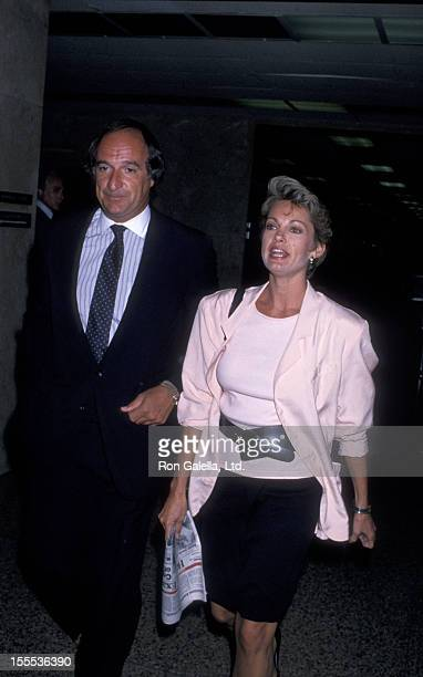 Cyndy Garvey and lawyer sighted on October 2 1989 at the Los Angeles Court House in Los Angeles California