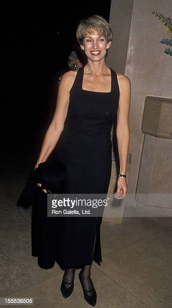 Cyndy Garvey attends American Friends of Hebrew University Scopus Awards on January 14 1995 at the Beverly Hilton Hotel in Beverly Hills California