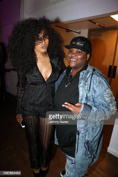 Cynseer Rockhead and DJ Bosschic attend the Super Bowl LIII Power Of Influence Awards at Coco Studios on February 1 2019 in Atlanta Georgia