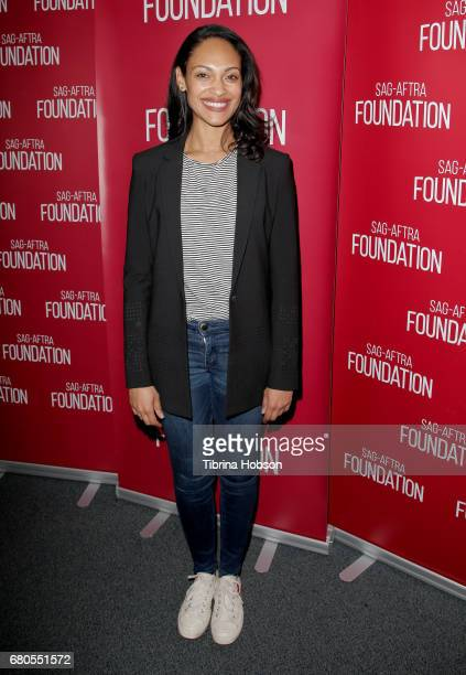 Cynthia AddaiRobinson attends SAGAFTRA Foundation's Conversations with working actors at SAGAFTRA Foundation Screening Room on May 8 2017 in Los...