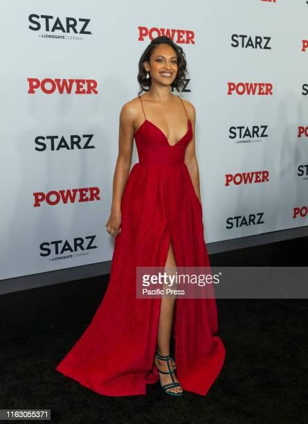 Cynthia Addai-Robinson attends STARZ Power Season 6 premiere at Madison Square Garden.