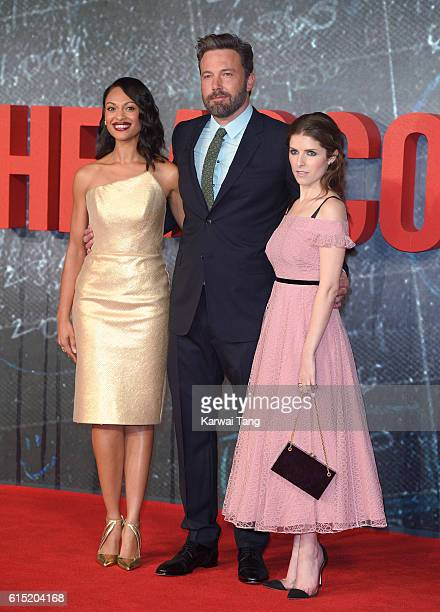 Cynthia AddaiRobinson Ben Affleck and Anna Kendrick attend the European premiere of The Accountant at Cineworld Leicester Square on October 17 2016...
