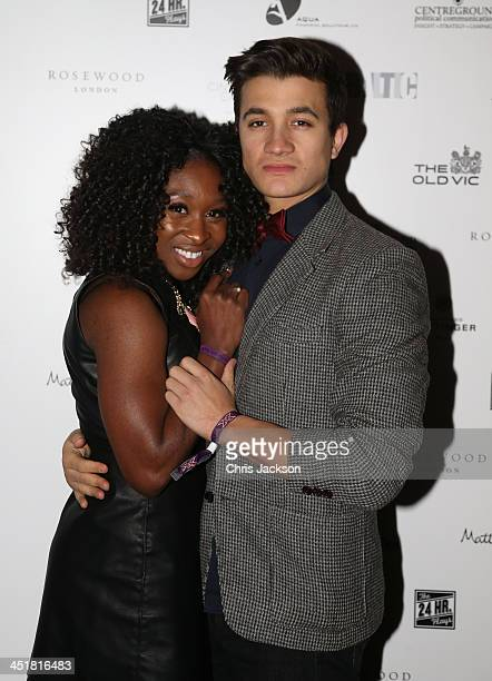 Cynthia Arrivo and guest attend the post show party The 25th Hour following The Old Vic's 24 Hour Celebrity Gala 2013 at Rosewood London on November...
