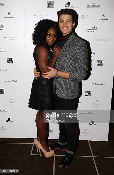 Cynthia Arrivo and guets attend the post show party The 25th Hour following The Old Vic's 24 Hour Celebrity Gala 2013 at Rosewood London on November...