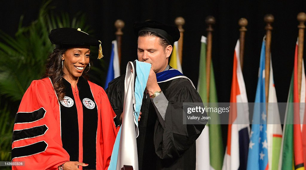 Cynthia Atterberry receives doctoral degree in education from Barry University at James L Knight Center on May 5, 2012 in Miami, Florida.