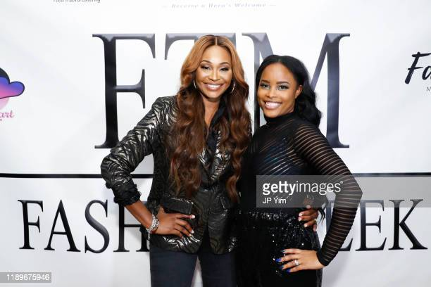 Cynthia Bailey and CEO Founder of FTM Fashion Week Latoya Scott attend FTM Fashion Week S7 at Sturgeon City on November 23 2019 in Jacksonville North...