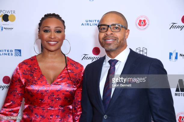 Cynthia Bailey and Mike Hill attends Ebony Magazine's Ebony's Power 100 Gala Arrivals at The Beverly Hilton Hotel on November 30 2018 in Beverly...