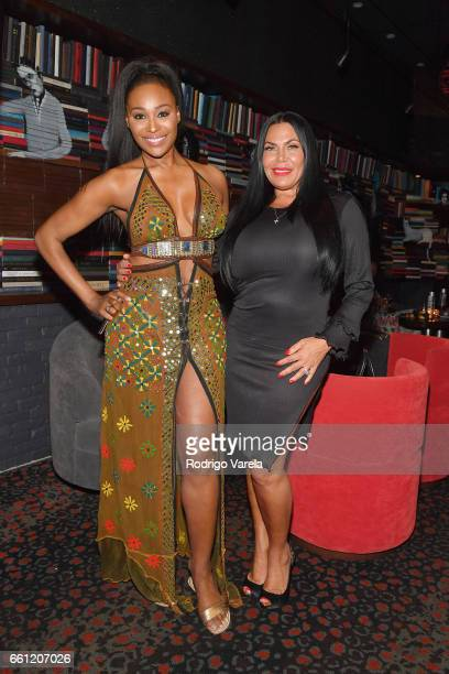 Cynthia Bailey and Renee Graziano attend WE tv's Premiere Party for Their New Show Dr Miami at the Tuck Room in North Miami Beach on March 30 2017 in...