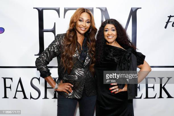 Cynthia Bailey and Valentina Wilson attend FTM Fashion Week S7 at Sturgeon City on November 23 2019 in Jacksonville North Carolina