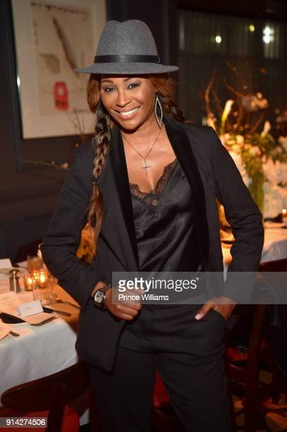 Cynthia Bailey attends Marlo Hampton's Birthday Dinner on February 3 2018 in Sandy Springs Georgia