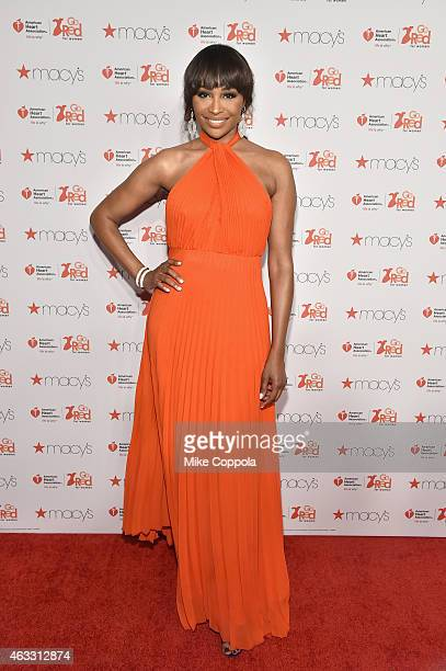 Cynthia Bailey attends the Go Red For Women Red Dress Collection 2015 presented by Macy'sfashion show during MercedesBenz Fashion Week Fall 2015 at...