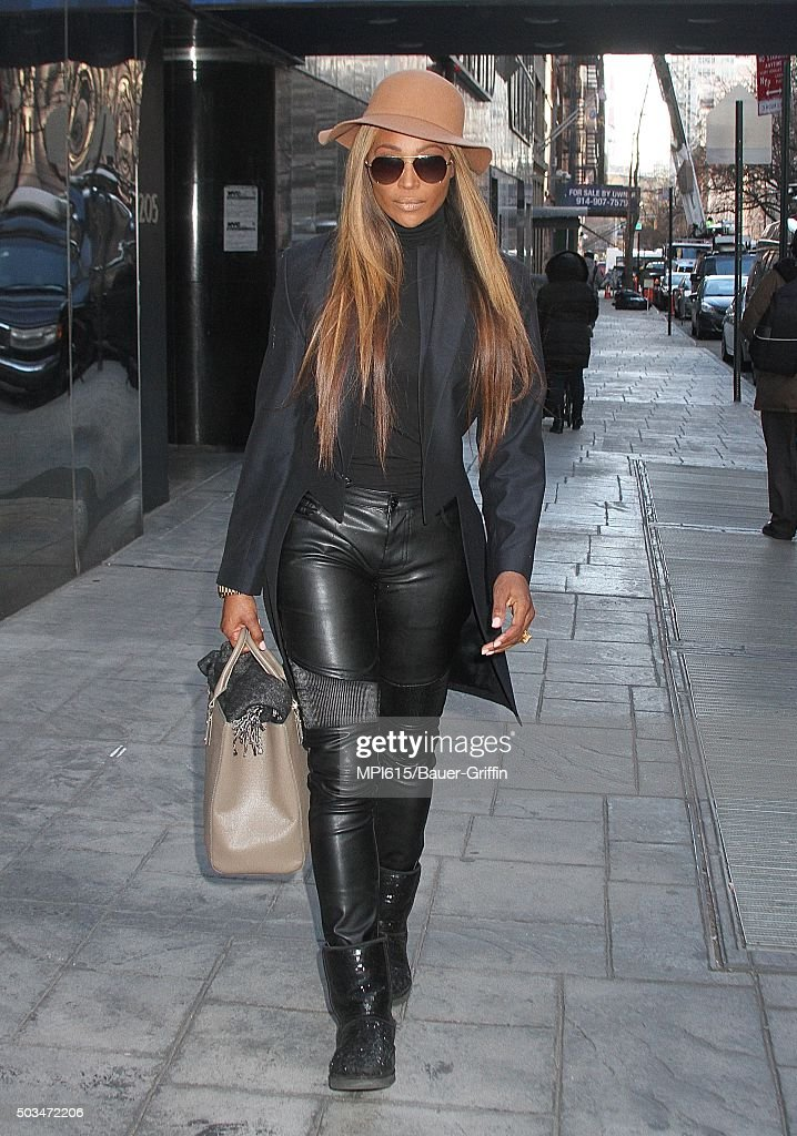 Cynthia Bailey, star of 'The Real Housewives of Atlanta' seen leaving Good Day New York on January 05, 2016 in New York City.