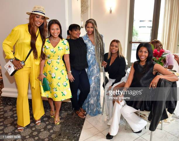 Cynthia Bailey Terrinee Gundy Sheree Whitfield and Teresa Caldwell attend the Empowered Brunch at Waldorf Astoria Atlanta Buckhead on May 11 2019 in...
