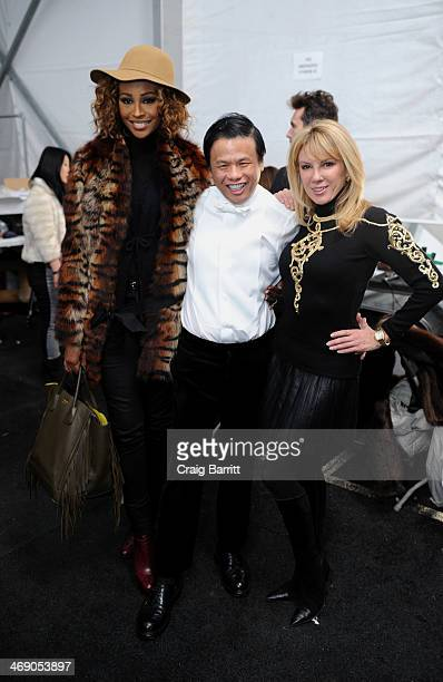 Cynthia Bailey Zang Toi and Ramona Singer pose backstage at the Zang Toi fashion show during MercedesBenz Fashion Week Fall 2014 at The Salon at...