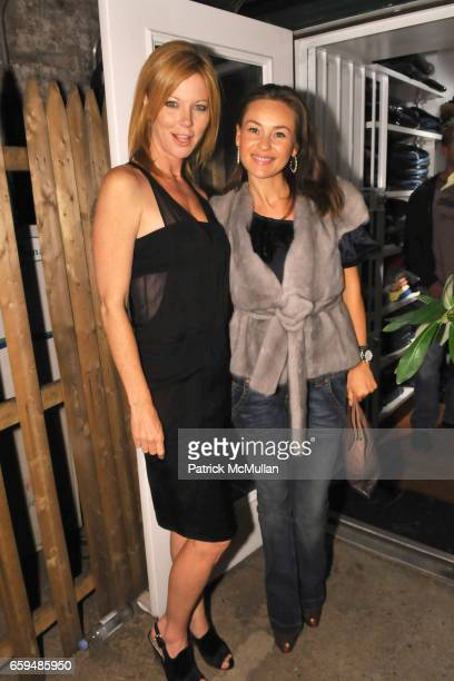 Cynthia Basinet and Beata Bohman attend INA MEN Opening Party at Ina Men on September 29 2009 in New York City