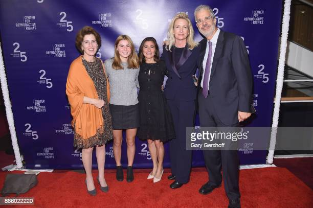 Cynthia Blumenthal guest Jamie Levitt Amy Metzler Ritter and Barkely Stuart attend The Center For Reproductive Rights Hosts 25th Anniversary...