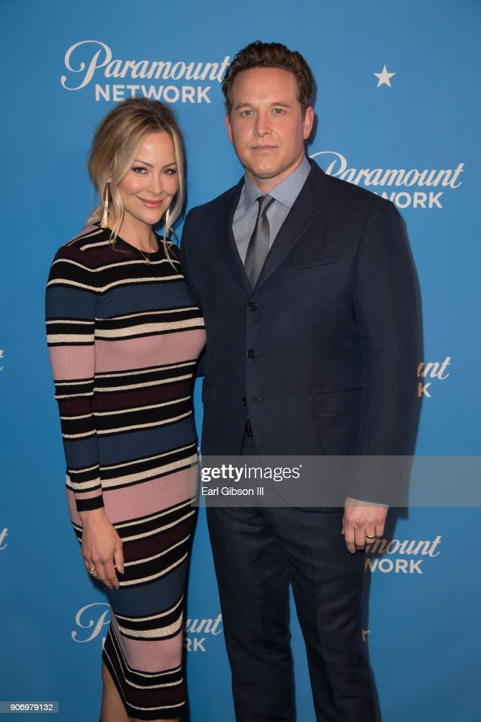 Cynthia Daniel and Cole Hauser attend Paramount Network Launch Party at Sunset Tower on January 18, 2018 in Los Angeles, California.