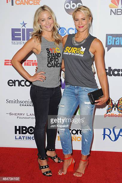 Cynthia Daniel and sister actress Brittany Daniel arrive at Hollywood Unites For The 4th Biennial Stand Up To Cancer A Program Of The Entertainment...