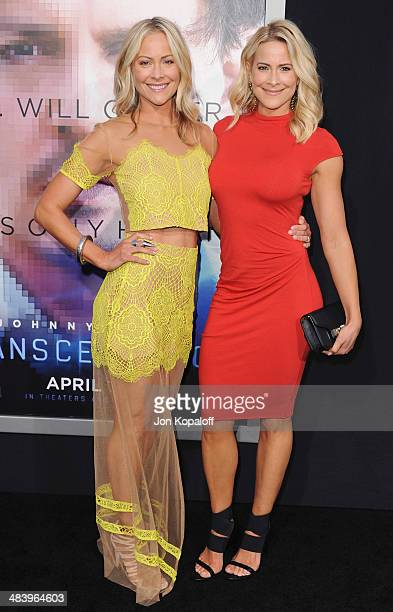 """Cynthia Daniel and sister actress Brittany Daniel arrive at the Los Angeles premiere """"Transcendence"""" at Regency Village Theatre on April 10, 2014 in..."""