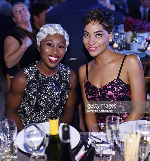 Cynthia Erivo and Cush Jumbo attend the God's Love We Deliver Golden Heart Awards on October 17 2016 in New York City
