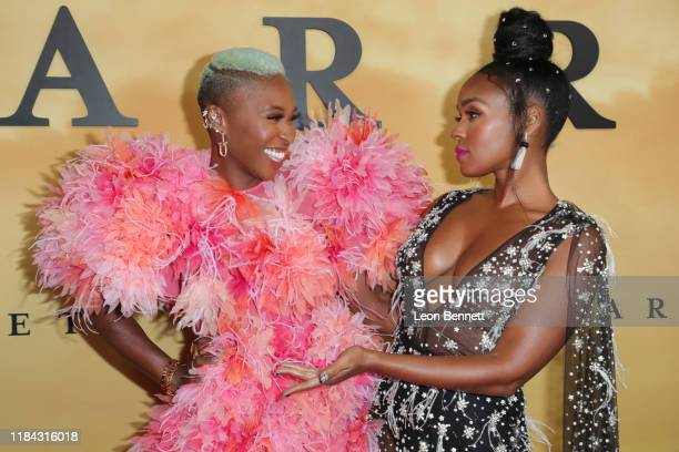 """Cynthia Erivo and Janelle Monáettend Premiere Of Focus Features' """"Harriet"""" at The Orpheum Theatre on October 29, 2019 in Los Angeles, California."""