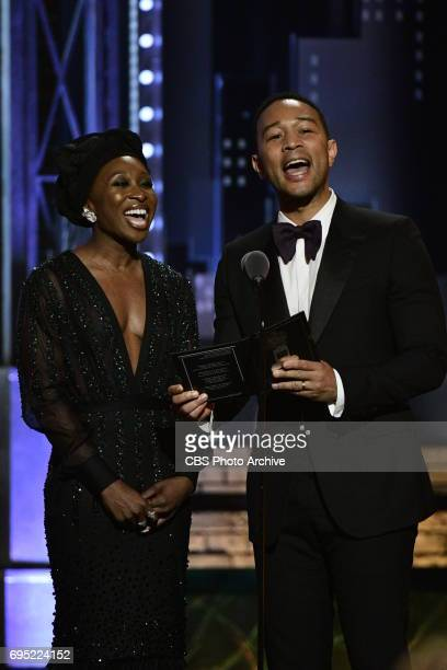Cynthia Erivo and John Legend at THE 71st ANNUAL TONY AWARDS broadcast live from Radio City Music Hall in New York City on Sunday, June 11, 2017 on...