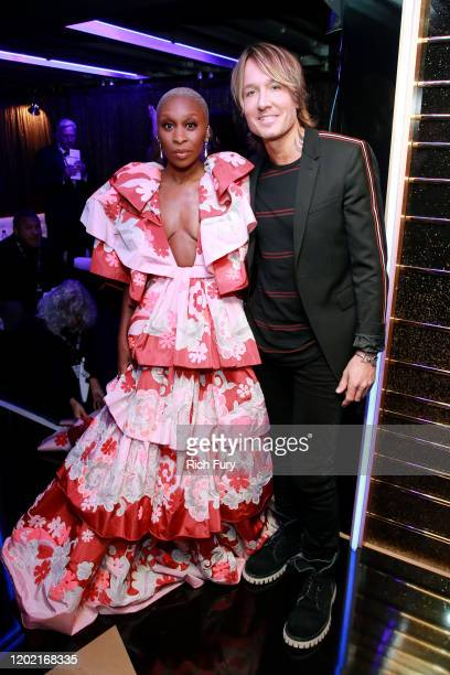 Cynthia Erivo and Keith Urban attend the 62nd Annual GRAMMY Awards at STAPLES Center on January 26 2020 in Los Angeles California