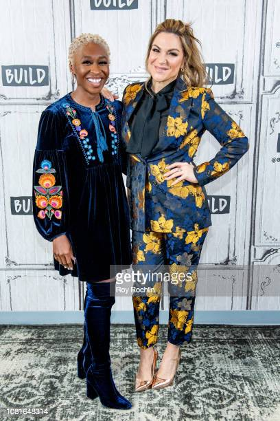 """Cynthia Erivo and Shoshana Bean discuss """"Night Divine"""" with the Build Series at Build Studio on December 12, 2018 in New York City."""