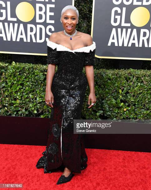 Cynthia Erivo arrives at the 77th Annual Golden Globe Awards attends the 77th Annual Golden Globe Awards at The Beverly Hilton Hotel on January 05...