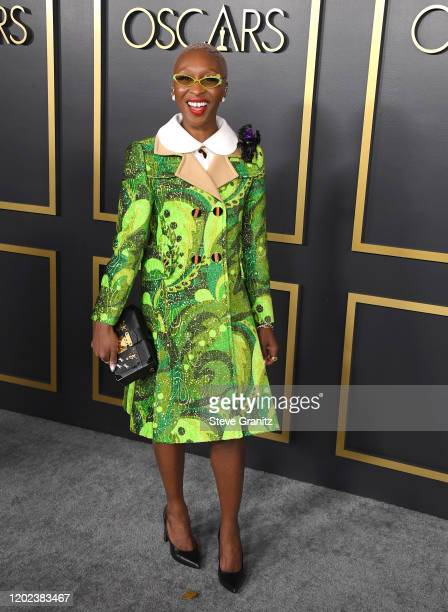 Cynthia Erivo arrives at the 92nd Oscars Nominees Luncheon on January 27, 2020 in Hollywood, California.
