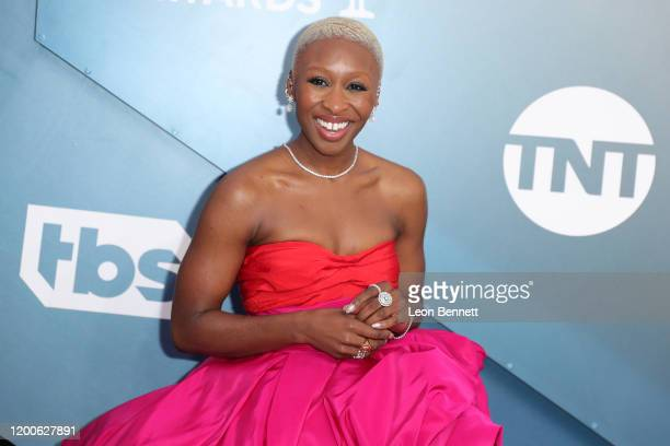 Cynthia Erivo attends 26th Annual Screen Actors Guild Awards at The Shrine Auditorium on January 19 2020 in Los Angeles California