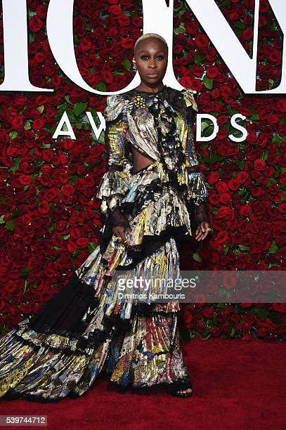 Cynthia Erivo attends 70th Annual Tony Awards Arrivals at Beacon Theatre on June 12 2016 in New York City