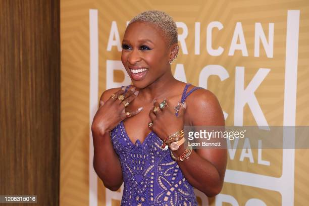 Cynthia Erivo attends American Black Film Festival Honors Awards Ceremony at The Beverly Hilton Hotel on February 23 2020 in Beverly Hills California