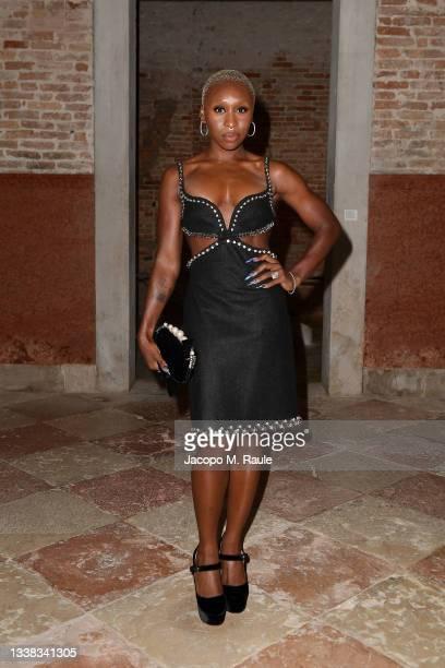 Cynthia Erivo attends Miu Miu Women's Tales Dinner during 78 Venice Film Festival on September 04, 2021 in Venice, Italy.