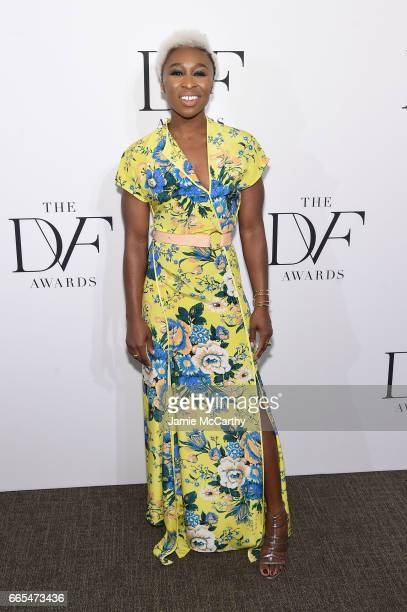 Cynthia Erivo attends the 2017 DVF Awards at United Nations Headquarters on April 6 2017 in New York City