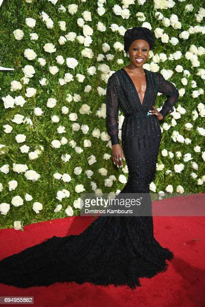 Cynthia Erivo attends the 2017 Tony Awards at Radio City Music Hall on June 11 2017 in New York City