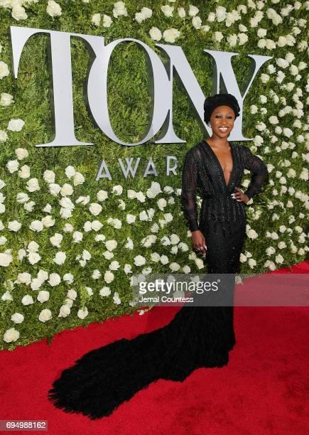Cynthia Erivo attends the 2017 Tony Awards at Radio City Music Hall on June 11 2017 in New York City