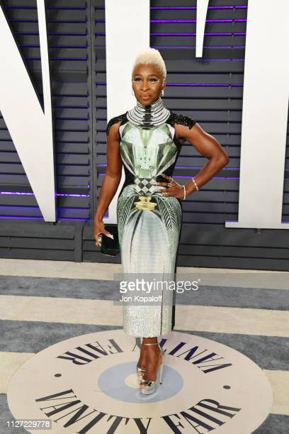 Cynthia Erivo attends the 2019 Vanity Fair Oscar Party hosted by Radhika Jones at Wallis Annenberg Center for the Performing Arts on February 24,...