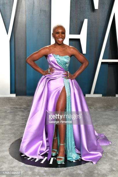 Cynthia Erivo attends the 2020 Vanity Fair Oscar party hosted by Radhika Jones at Wallis Annenberg Center for the Performing Arts on February 09 2020...