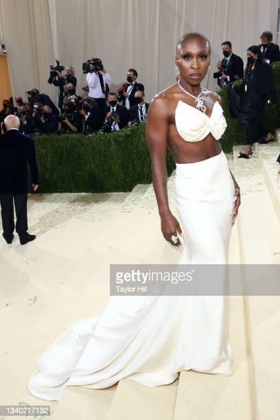 """Cynthia Erivo attends the 2021 Met Gala benefit """"In America: A Lexicon of Fashion"""" at Metropolitan Museum of Art on September 13, 2021 in New York..."""