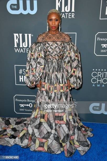 Cynthia Erivo attends the 25th Annual Critics' Choice Awards at Barker Hangar on January 12, 2020 in Santa Monica, California.