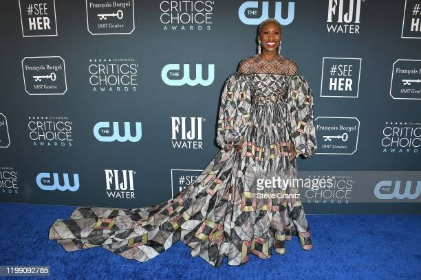 Cynthia Erivo attends the 25th Annual Critics' Choice Awards at Barker Hangar on January 12 2020 in Santa Monica California