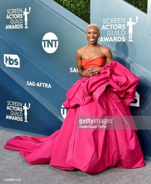 Cynthia Erivo attends the 26th Annual Screen Actors Guild Awards at The Shrine Auditorium on January 19 2020 in Los Angeles California