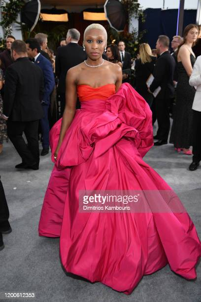 Cynthia Erivo attends the 26th Annual Screen Actors Guild Awards at The Shrine Auditorium on January 19, 2020 in Los Angeles, California. 721407
