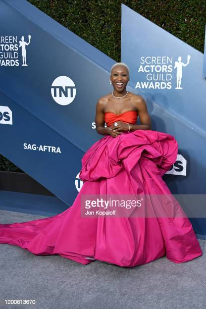 Cynthia Erivo attends the 26th Annual Screen ActorsGuild Awards at The Shrine Auditorium on January 19, 2020 in Los Angeles, California.